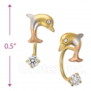 CH426 Gold Layered CZ Stud Earrings