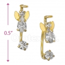 CH556 Gold Layered CZ Stud Earrings
