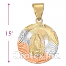 CL20B Gold Layered Tri-color Charm