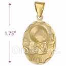 CL21  Gold Layered Tri-color First Communion Charm (Boys)