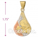 CL22B Gold Layered Tri-color Charm