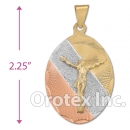 CL33B Gold Layered Tri-color Charm