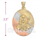 CL34 Gold Layered Tri-color Charm