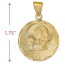 CL51  Gold Layered First Communion Charm (Girls)