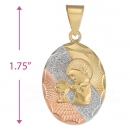 CL52  Gold Layered Tri-color First Communion Charm (Boys)