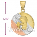 CL52C Gold Layered Tri-color Charm