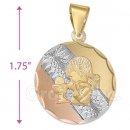 CL53  Gold Layered Tri-color First Communion Charm (Girls)