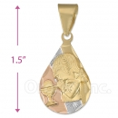 CL65  Gold Layered Tri-color First Communion Charm (Girls)