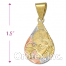 CL65B Gold Layered Tri-color Charm