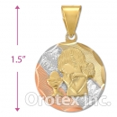 CL66B Gold Layered Tri-color Charm