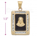 CL73 Gold Layered CZ Onyx Charm