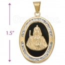 CL75 Gold Layered CZ Onyx Charm