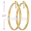EB042 Gold Layered Tri-Color Hoop Earrings