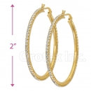 EH001 Gold Layered CZ Hoop Earrings 1/12