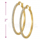EH002 Gold Layered CZ Hoop Earrings 1/10