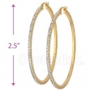 EH003 Gold Layered CZ Hoop Earrings 2/4