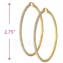 EH005 Gold Layered CZ Hoop Earrings 2/8