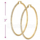 EH006 Gold Layered CZ Hoop Earrings 2/10