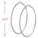EH010 Silver Layered CZ Hoop Earrings 1/12