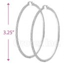 EH011 Silver Layered CZ Hoop Earrings 1/14