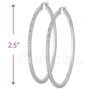 EH012 Silver Layered CZ Hoop Earrings 2/0