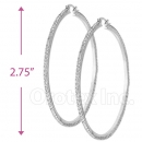 EH016 Silver Layered CZ Hoop Earrings 2/8