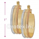 EH025 Gold Layered Tri-color Hoop Earrings