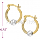 EH036 Gold Layered Two Tone Hoop Earrings
