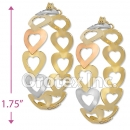 EH046 Gold Layered Tri-Color Hoop Earrings