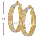 EH047 Gold Layered Tri-color Hoop Earrings