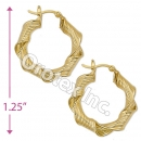 EH057 Gold Layered Hoop Earrings
