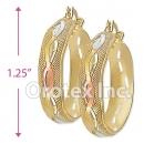 EH070 Gold Layered Tri-Color Hoop Earrings