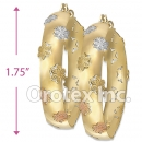 EH071 Gold Layered Tri-Color Hoop Earrings