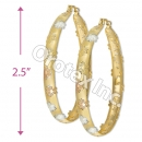 EH099 Gold Layered Tri-Color Hoop Earrings
