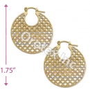 EH104 Gold Layered Tri-color Hoop Earrings