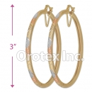 EH142 Gold Layered Tri-Color Hoop Earrings