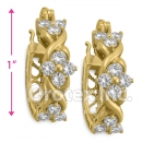EH288 Orotex Gold Layered Fancy CZ Huggies Earrings