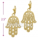 EL 182 Gold Layered Long Earrings