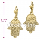 EL 183 Gold Layered Long Earrings