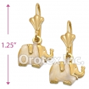 EL006 Gold Layered Long Earrings