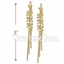 EL025 Gold Layered Long Earrings