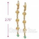 EL030 Gold Layered Long Earrings