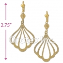 EL045 Gold Layered Long Earrings