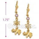 EL052 Gold Layered Long Earrings