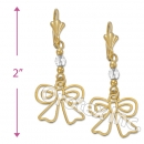 EL059 Gold Layered  Long Earrings