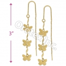 EL065 Gold Layered  Long Earrings