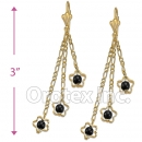 EL070 Gold Layered Long Earrings
