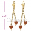 EL074 Gold Layered Long Earrings