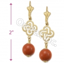 EL094 Gold Layered  Long Earrings