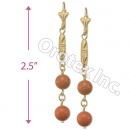 EL099 Gold Layered Long Earrings